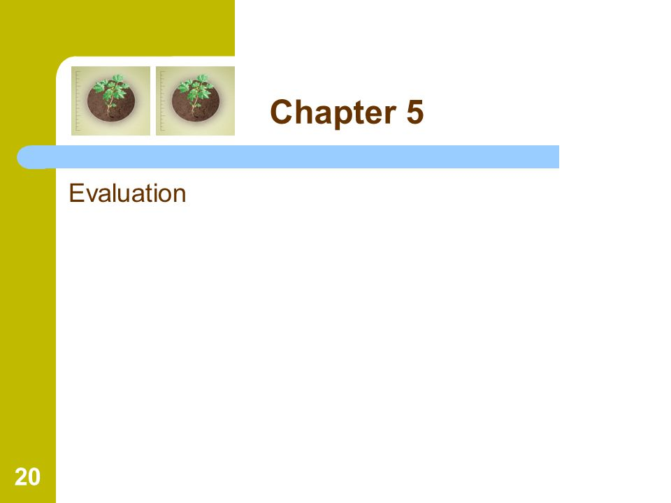 20 Chapter 5 Evaluation