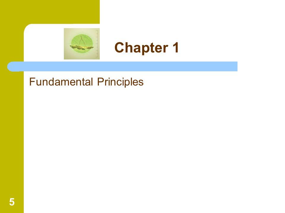 5 Chapter 1 Fundamental Principles