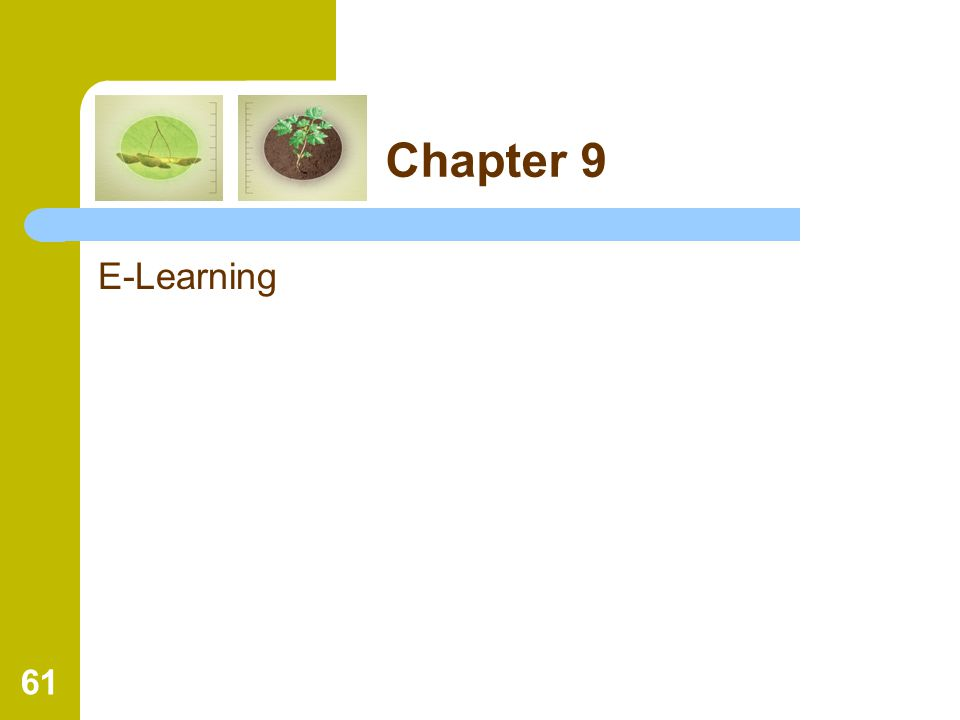 61 Chapter 9 E-Learning
