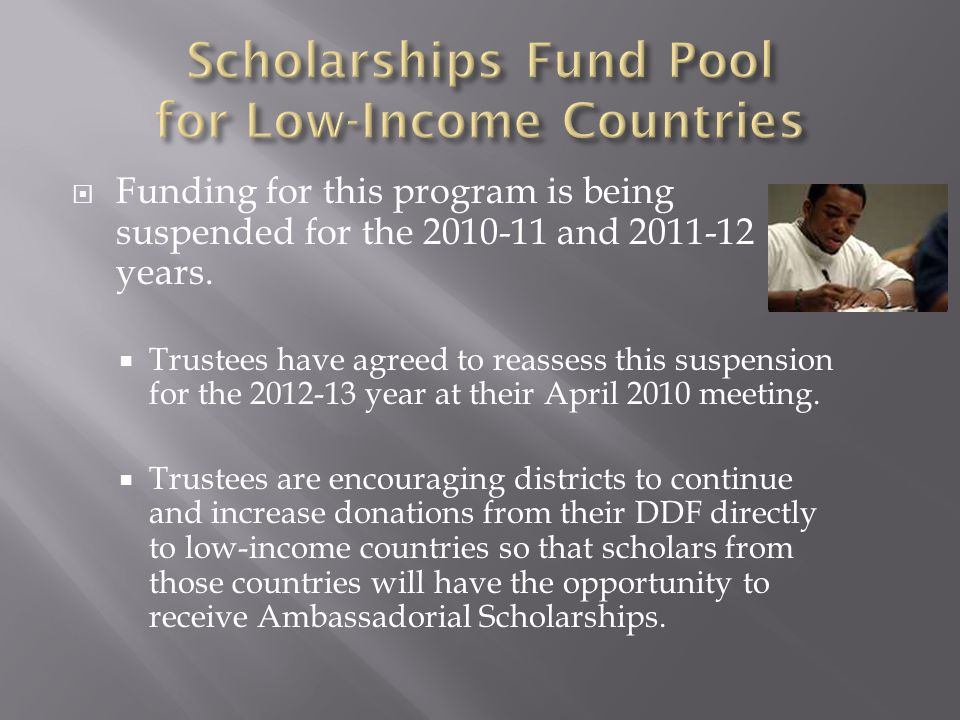  Funding for this program is being suspended for the 2010-11 and 2011-12 years.