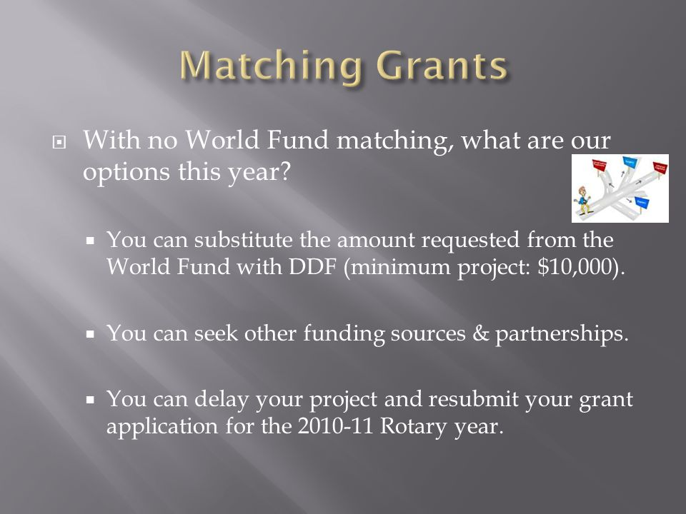  Will Future Vision Pilot Districts be able to continue to do Matching Grants with non-pilot districts.