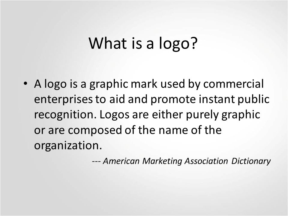 What is a logo.