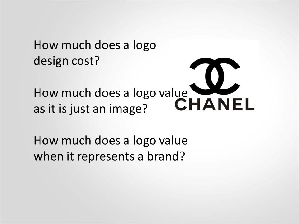 How much does a logo design cost. How much does a logo value as it is just an image.