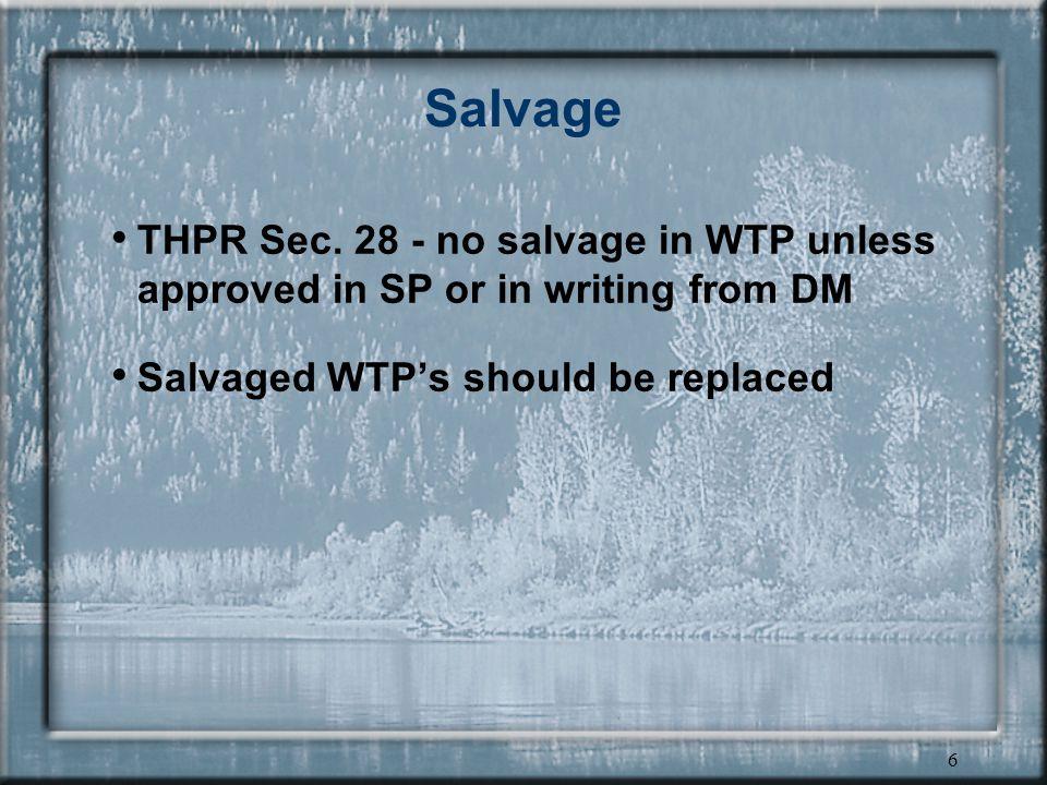 6 Salvage THPR Sec.