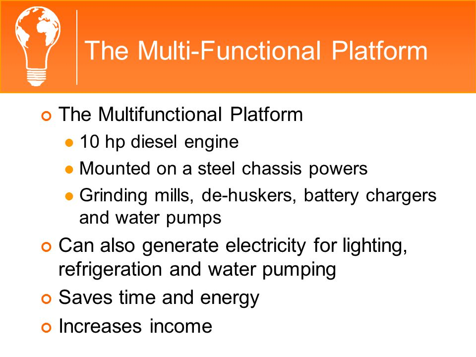 The Multi-Functional Platform The Multi Functional Platform VideoVideo From the EWB Canada website