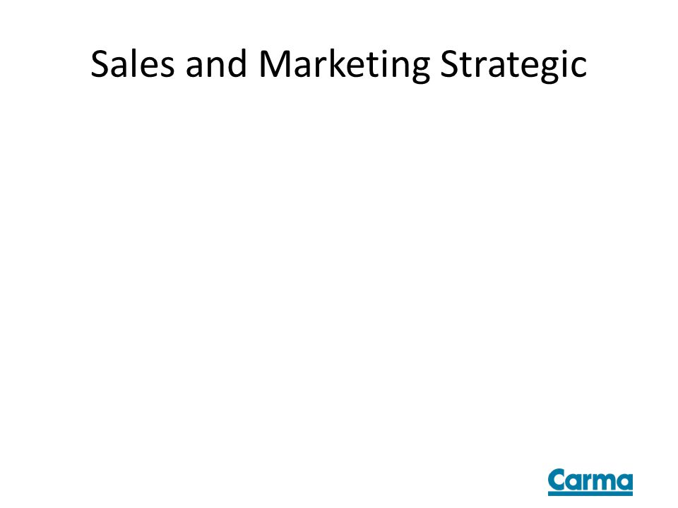Sales and Marketing Strategic