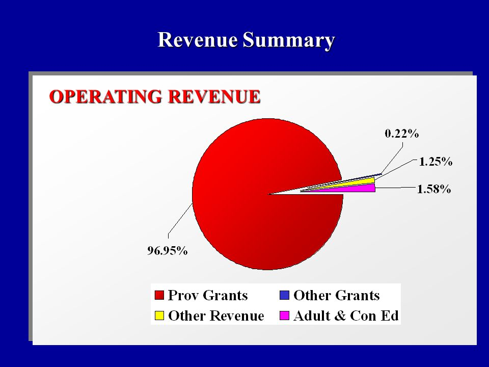 OPERATING REVENUE Revenue Summary