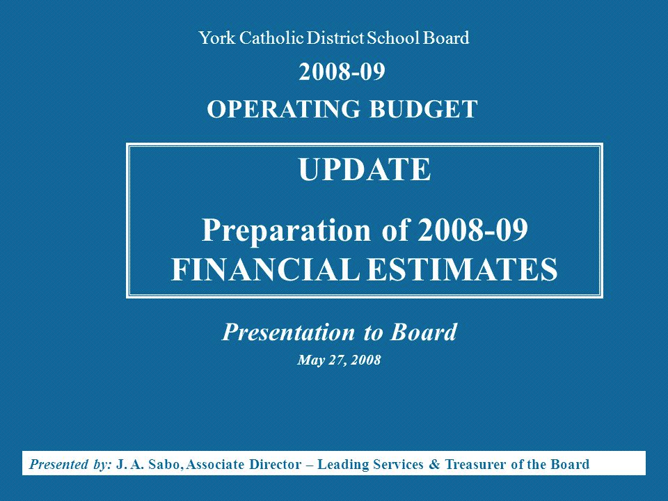 BUDGET DISCIPLINE/CONSIDERATIONS ZERO SUM GAME CANNOT afford to materially UNDERSTATE Expenditures OR OVERSTATE Revenues