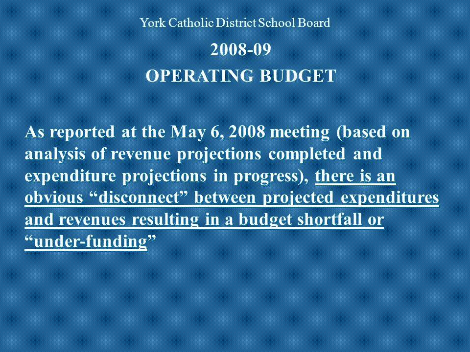 EXPENDITURE SUPPORT MATERIAL PRESENTED MODULEDATECOLOURPages Salary & BenefitsMAY 6, 2008Pink37 Special EducationMAY 6, 2008Yellow10 TransportationMAY 27, 2008Ivory4 Accommodation/PlantMAY 27, 2008Purple18 General School Budgets (GSB)MAY 27, 2008Pink5 Information SystemsMAY 27,2008Blue11 Instructional Services (includes ESL and Alt Ed.) Continuing Education Other Central Support Not finalized