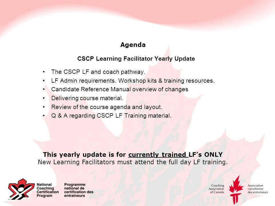 NCCP/CSCP Learning Facilitator Update Canada~Snowboard