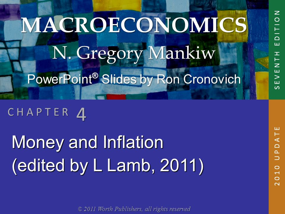 In this chapter, you will learn:  The classical theory of inflation  causes  effects  social costs  Classical – assumes prices are flexible & markets clear  Applies to the long run