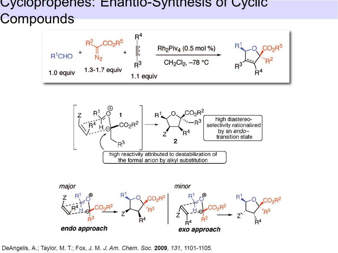 Cyclopropenes: Enantio-Synthesis of Cyclic Compounds DeAngelis, A.; Taylor, M.