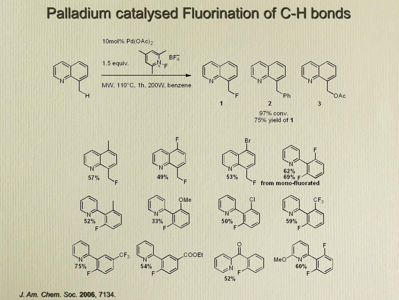 J. Am. Chem. Soc. 2006, 7134. Palladium catalysed Fluorination of C-H bonds