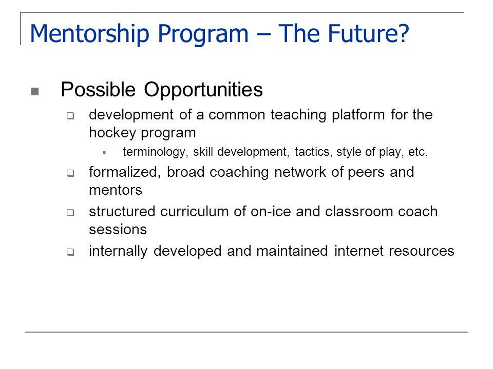 Mentorship Program – The Future.
