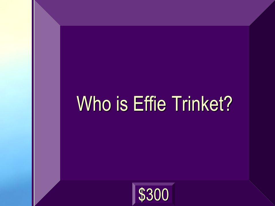 Who is Effie Trinket? $300