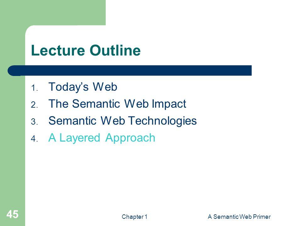 Chapter 1A Semantic Web Primer 45 Lecture Outline 1.
