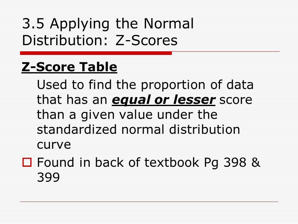 3.5 Z-Score Tables