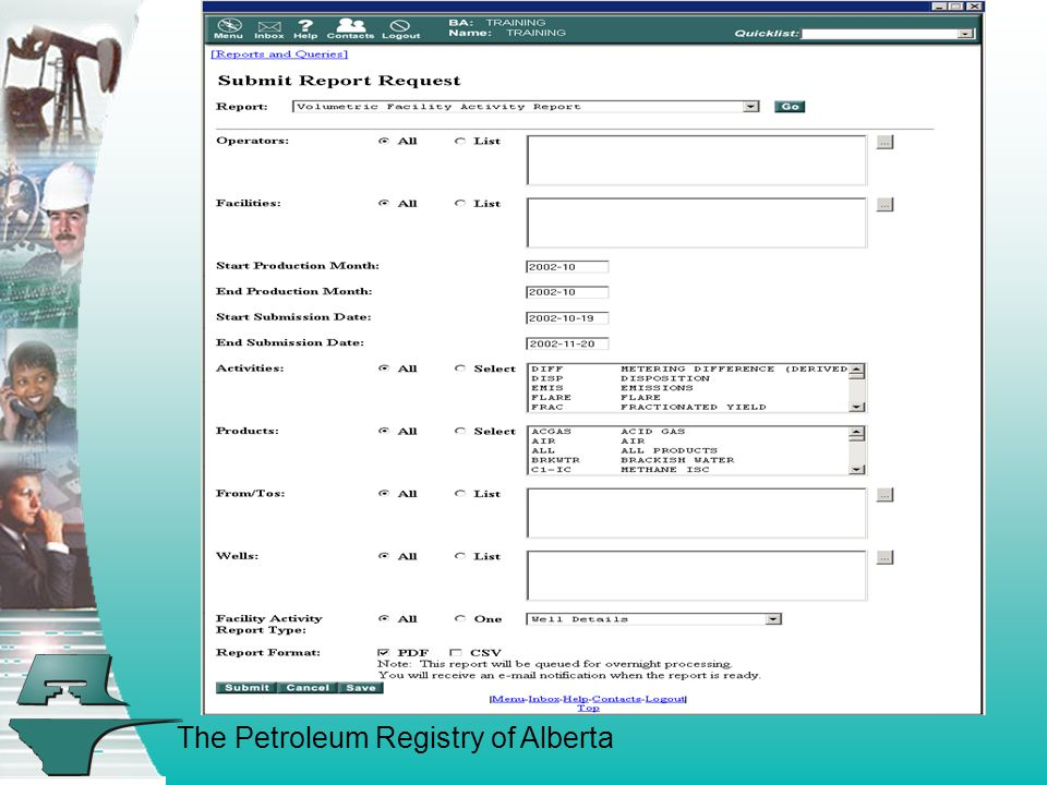 The Petroleum Registry of Alberta