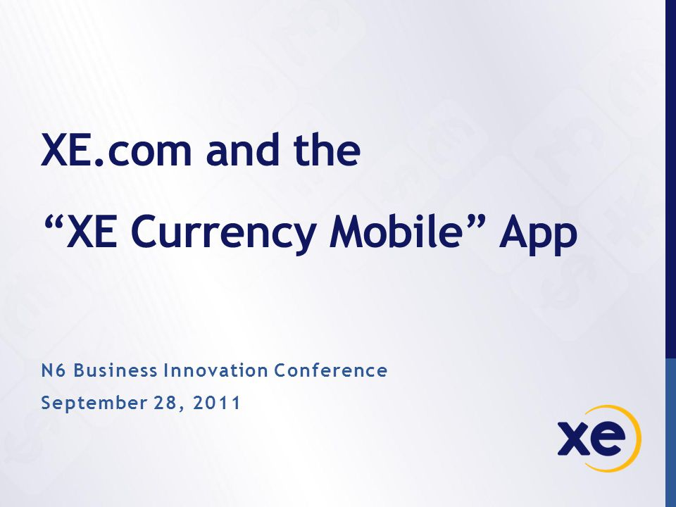 XE Currency on iPhone