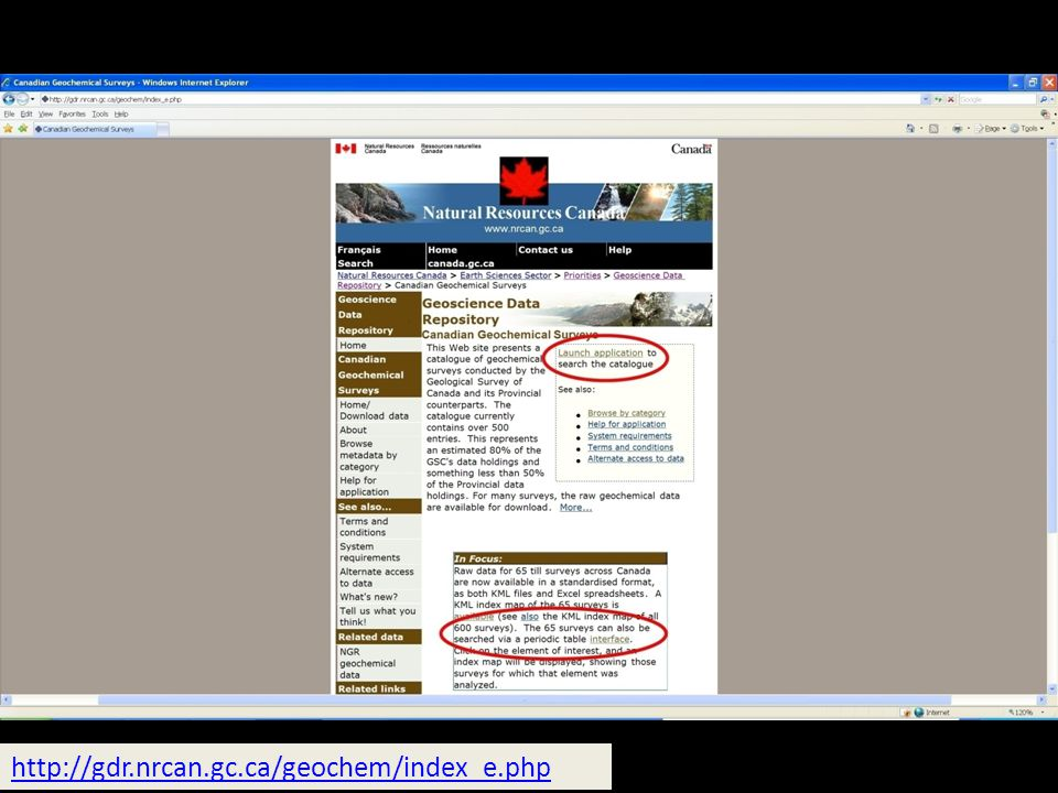 http://gdr.nrcan.gc.ca/geochem/index_e.php