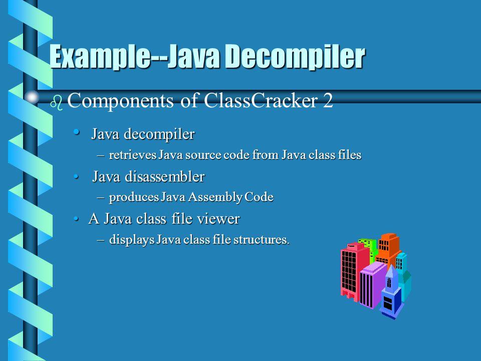 Example--Java Decompiler b b ClassCracker 2 Interface