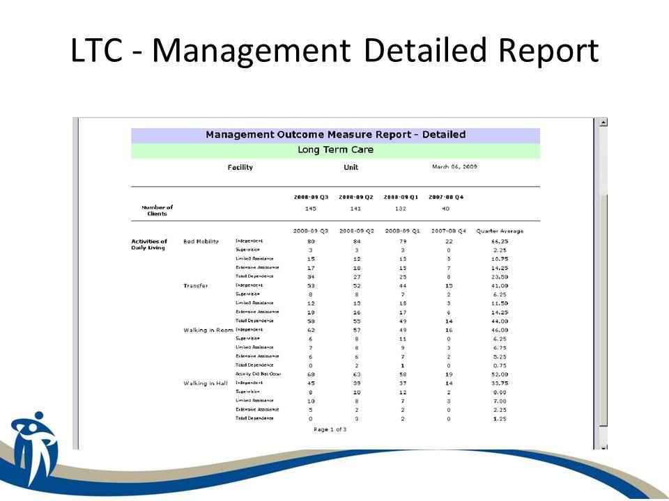 LTC - Management Detailed Report