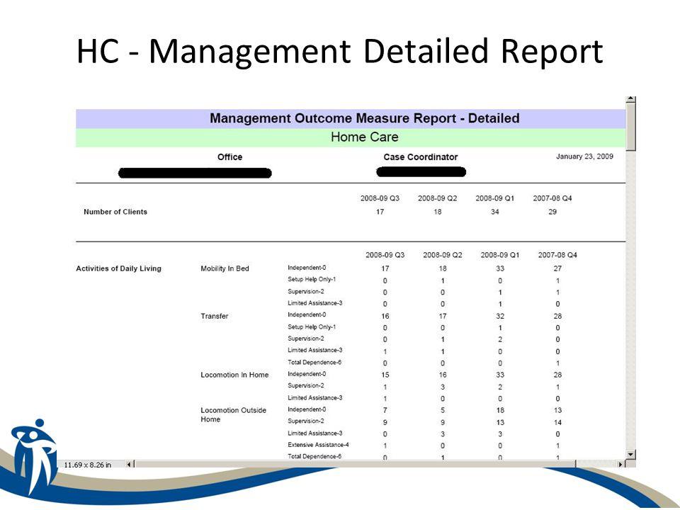 HC - Management Detailed Report