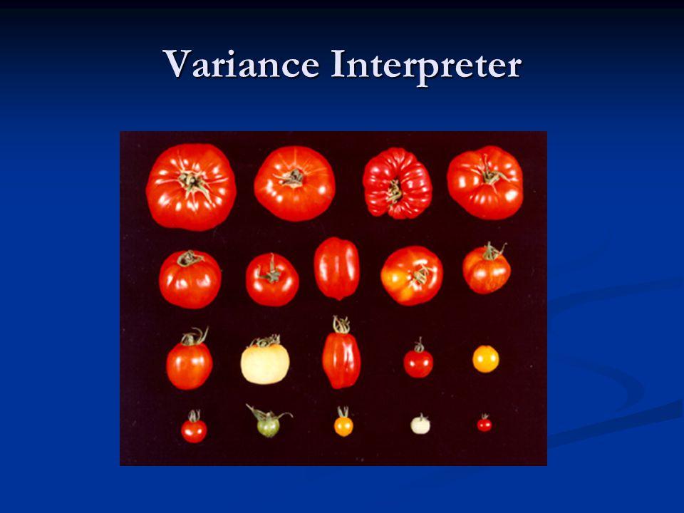 Variance Interpreter