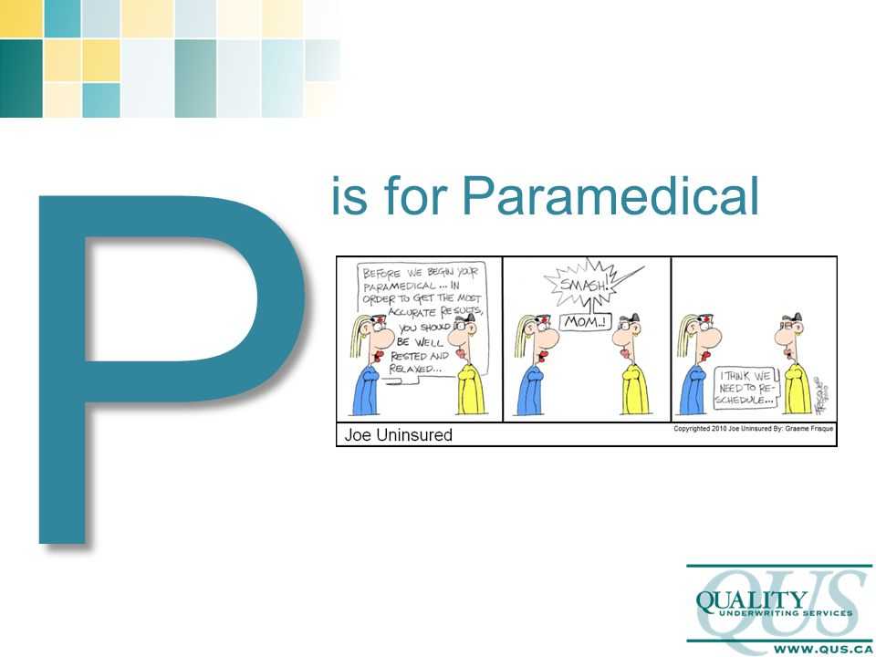 P is for Paramedical