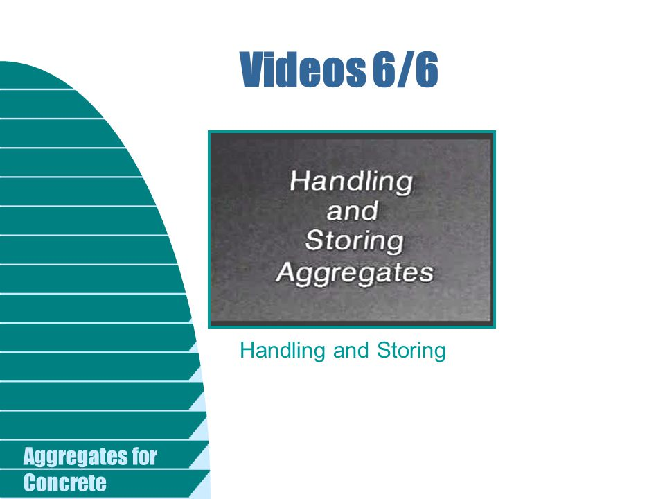 Aggregates for Concrete Videos 6/6 Handling and Storing