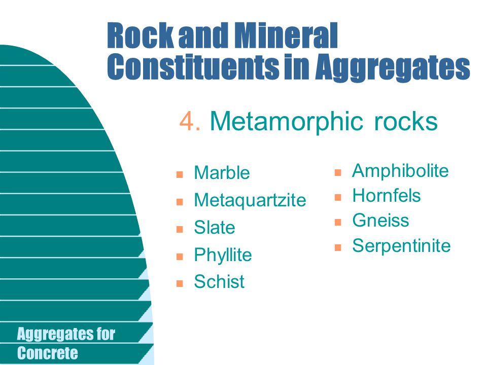 Aggregates for Concrete Iron Particles in Aggregates