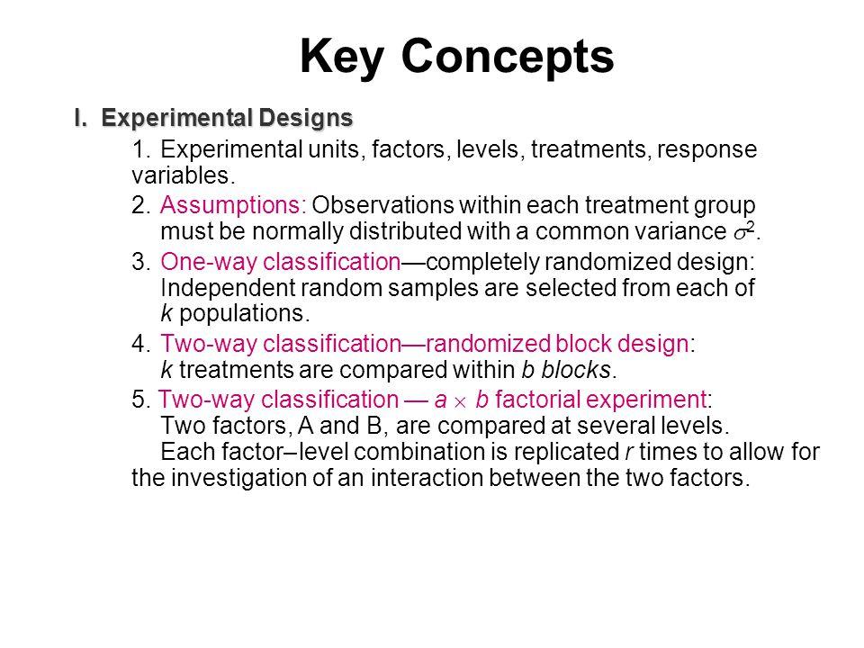 Key Concepts I.