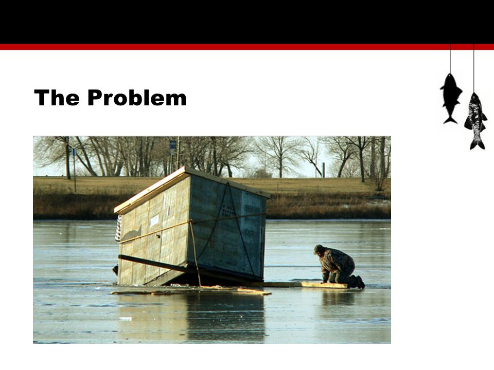 In the past few years an increasing number of ice fishing huts have been abandoned on Sylvan Lake.