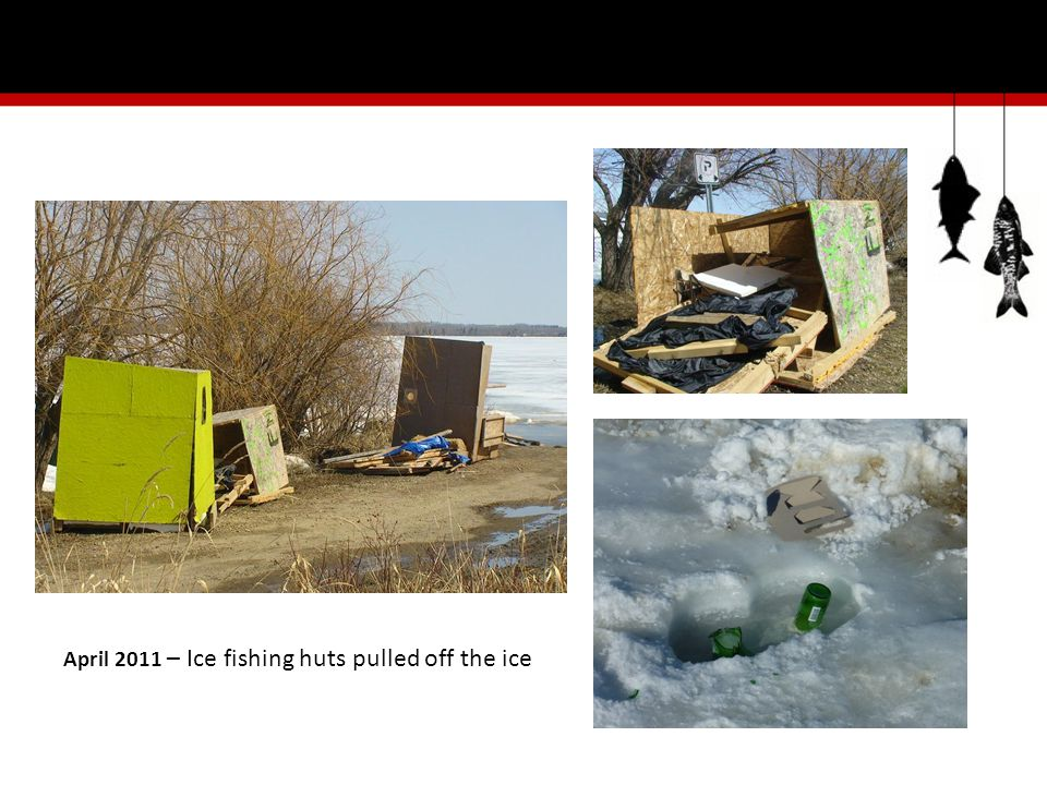 Our Solution A four step approach to solving the abandoned ice hut problem: 1.Education 2.Voluntary Ice Hut Registration 3.Removal 4.Resolution