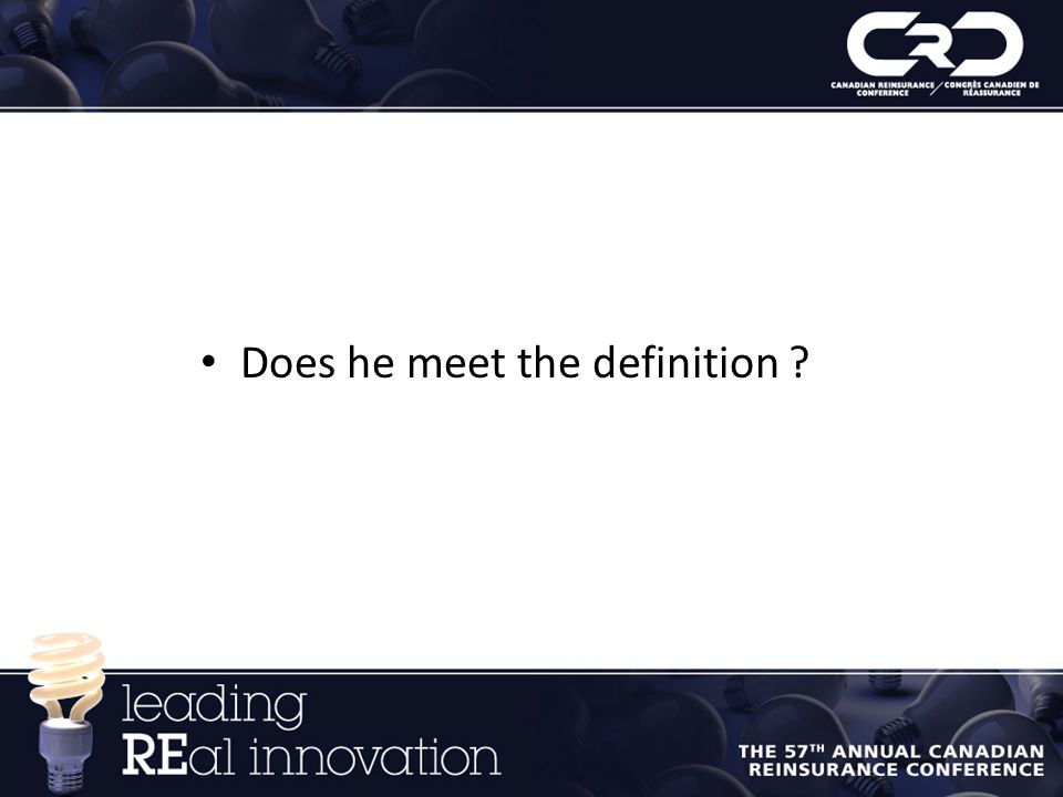 Does he meet the definition ?