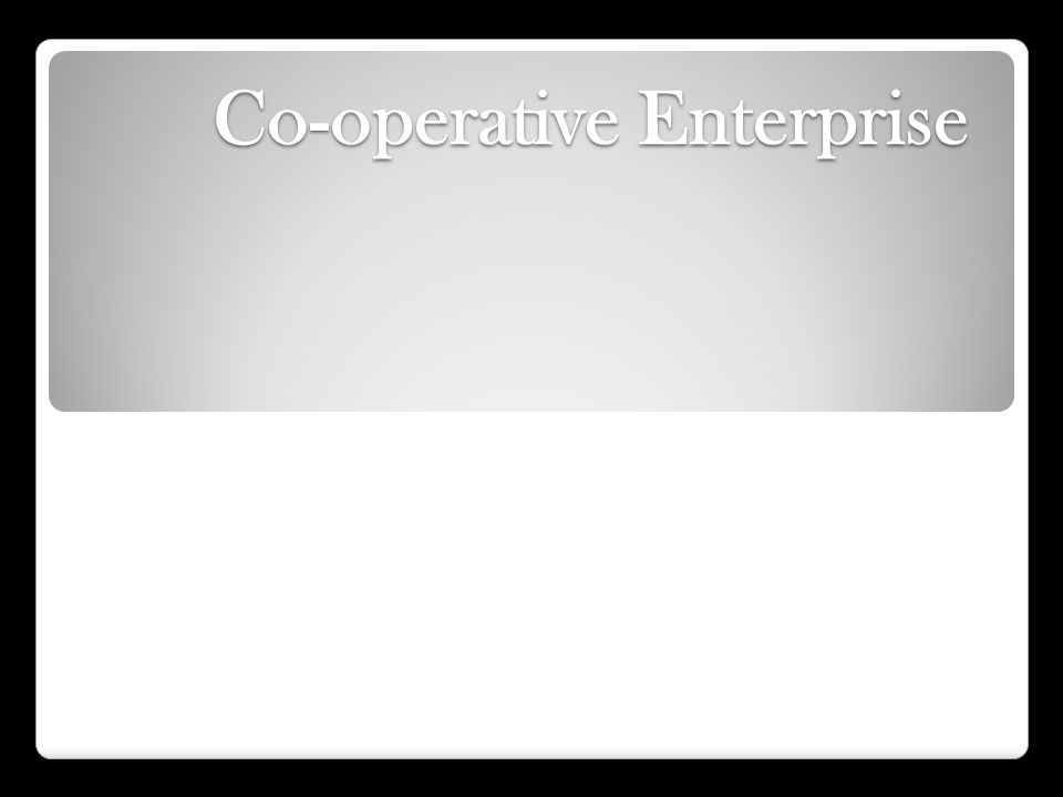 Types of Co-operatives Retail Co-operatives: Formed to provide goods to members at reduced rates.