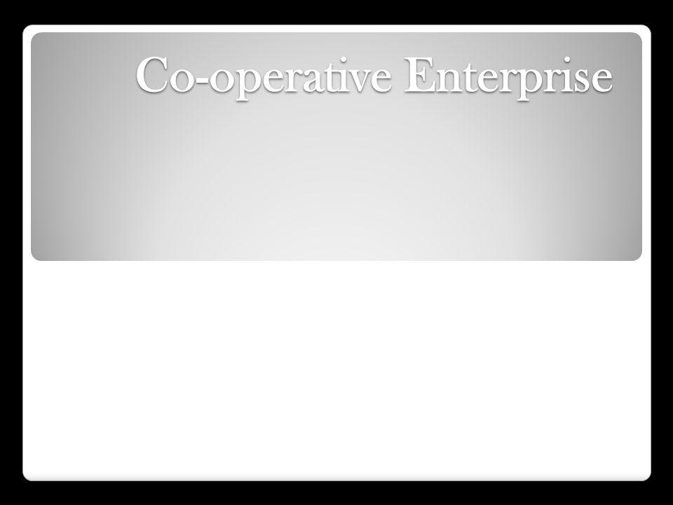 Co-operative Enterprise