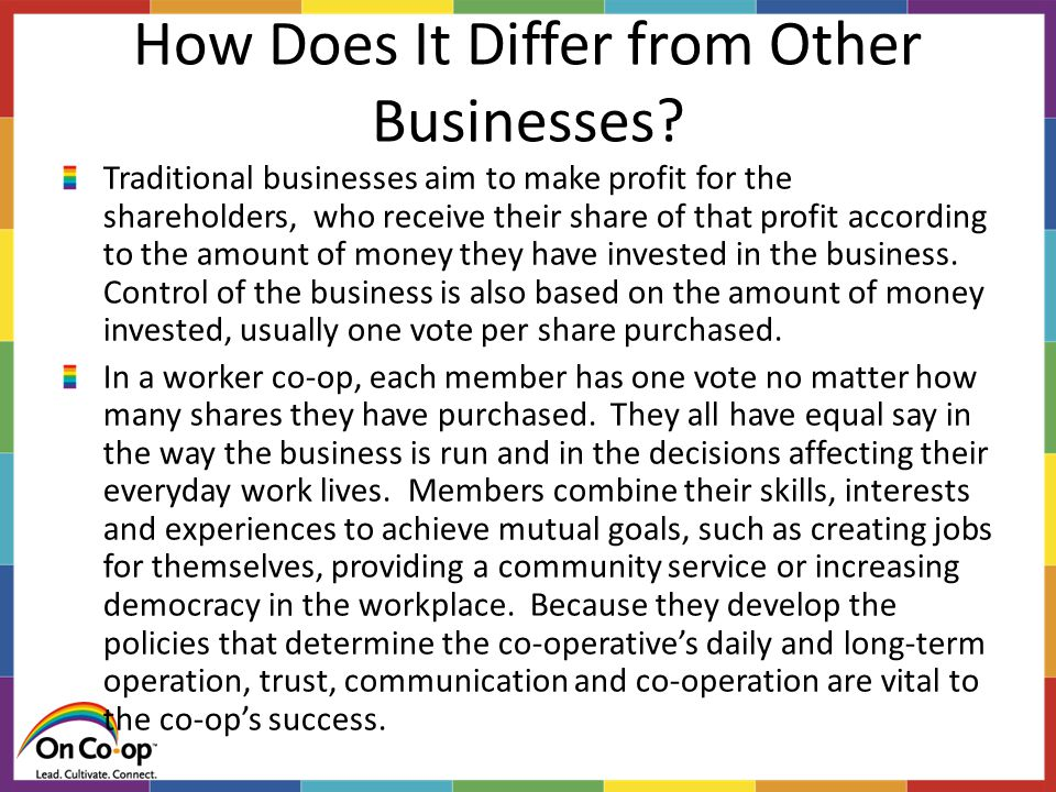 How Does It Differ from Other Businesses.