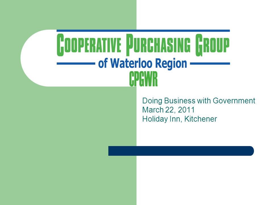Who is the Cooperative Purchasing Group of Waterloo Region.