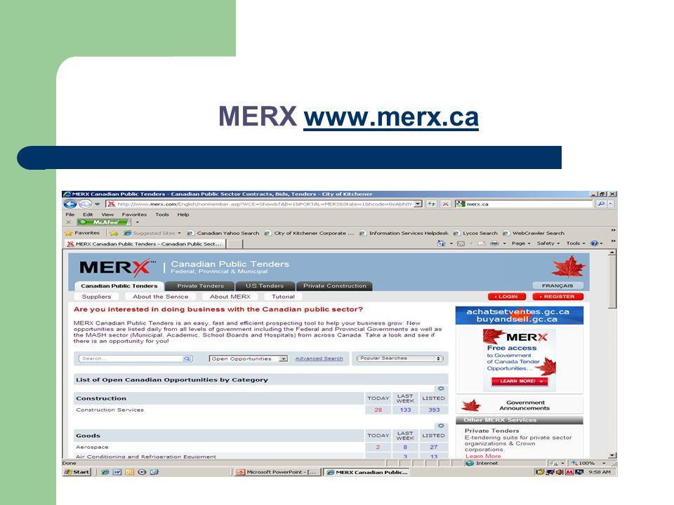MERX www.merx.cawww.merx.ca
