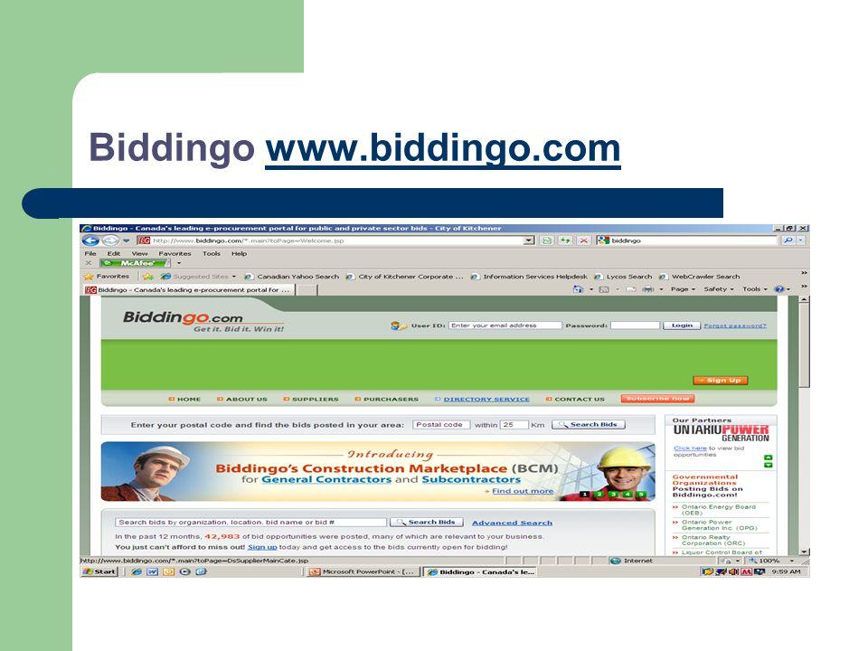 Biddingo www.biddingo.comwww.biddingo.com