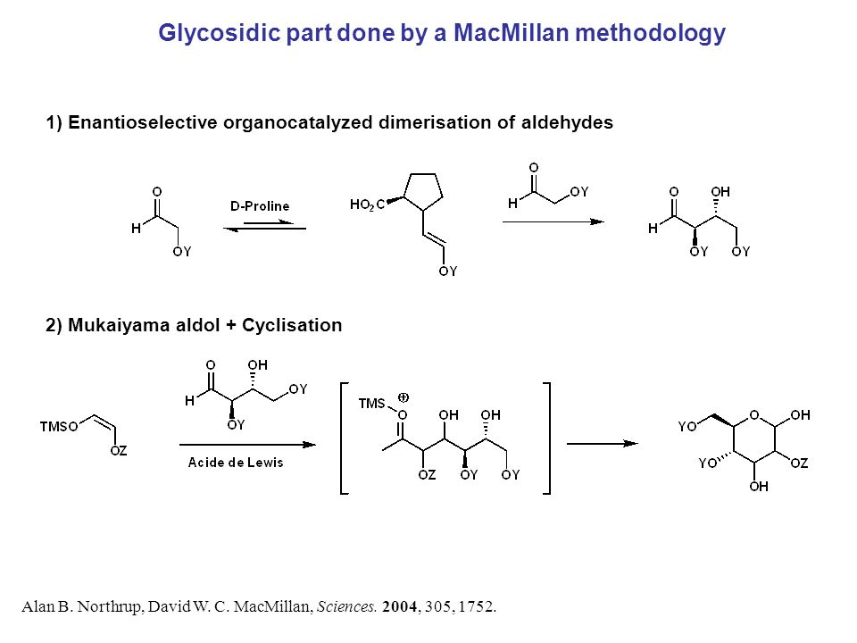 Glycosidic part done by a MacMillan methodology Alan B.