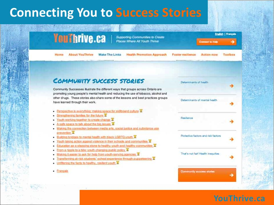 YouThrive.ca Connecting You to Success Stories