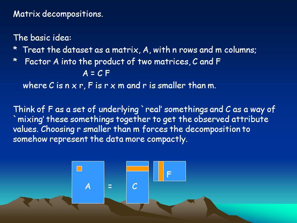 Matrix decompositions.