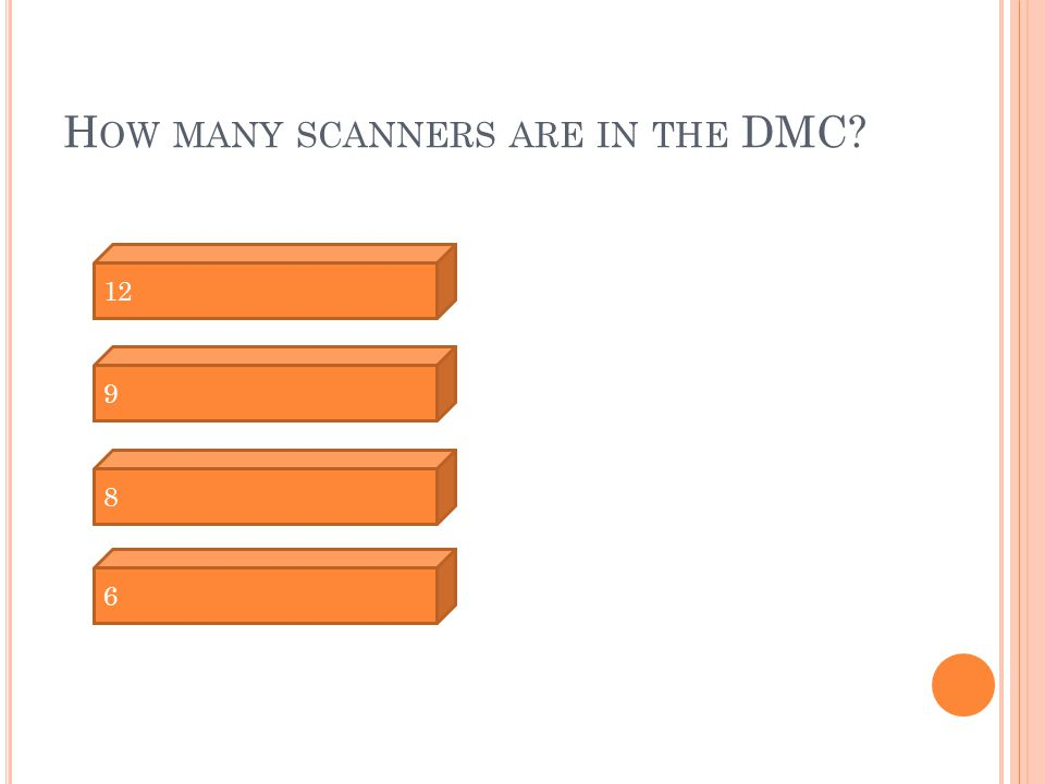 H OW MANY SCANNERS ARE IN THE DMC