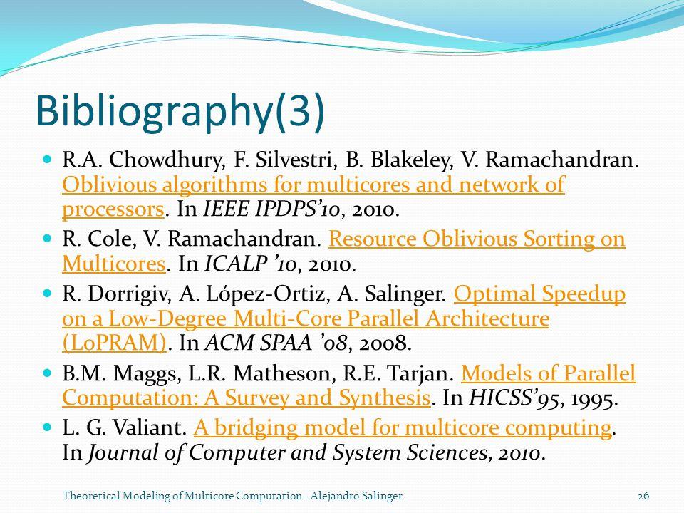 Bibliography(3) R.A. Chowdhury, F. Silvestri, B.