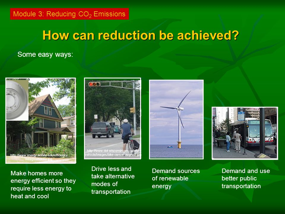 How can reduction be achieved.
