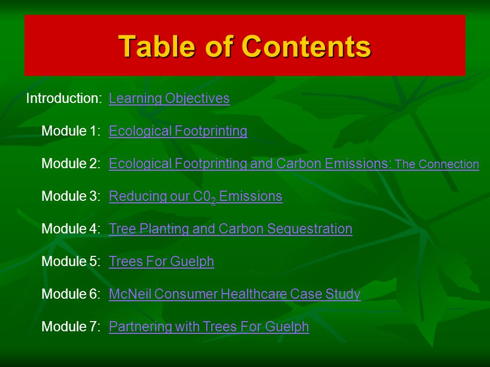 How Students Can Get Involved Module 5: Trees For Guelph If your class is interested in participating in a tree planting program with Trees For Guelph, we can help you get started.