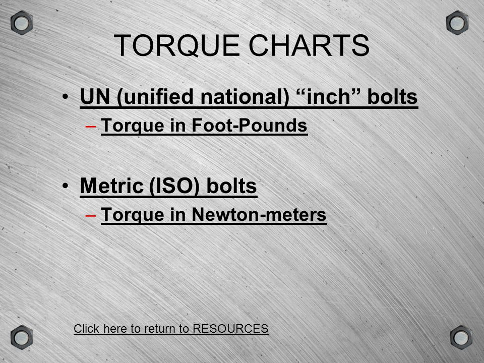 GROUPSCENEVERSIONTYPE PRESSURE-TORQUE CONVERSION CHARTS AVANTI (SQUARE DRIVE) WRENCHES STEALTH (NARROW CLEARANCE) WRENCHES Click here to return to RESOURCES
