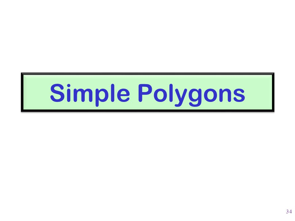Simple Polygons 34